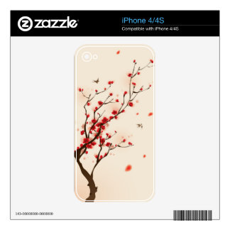 Oriental style painting, plum blossom in spring 2 iPhone 4 skins