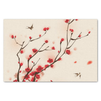 Oriental style painting, plum blossom in spring 2 tissue paper