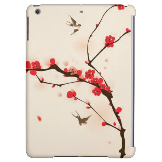 Oriental style painting, plum blossom in spring 3 iPad air cases