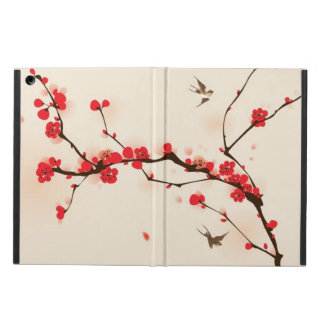 Oriental style painting, plum blossom in spring 3 iPad air cover