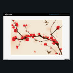"""Oriental style painting, plum blossom in spring 3 laptop skin<br><div class=""""desc"""">plum blossom,  vectorized brush painting,  symbolize love and happiness</div>"""