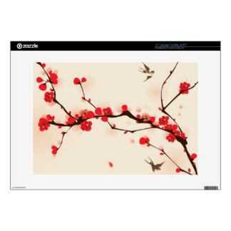 Oriental style painting, plum blossom in spring 3 laptop skin