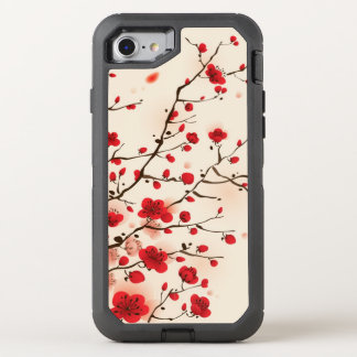Oriental style painting, plum blossom in spring OtterBox defender iPhone 8/7 case