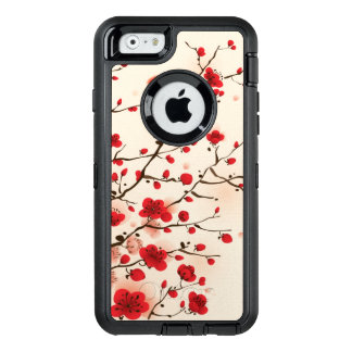 Oriental style painting, plum blossom in spring OtterBox defender iPhone case