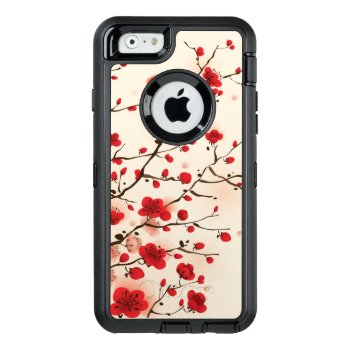 Oriental Style Painting  Plum Blossom In Spring Otterbox Defender Iphone Case by watercoloring at Zazzle