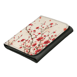 Oriental style painting, plum blossom in spring wallet