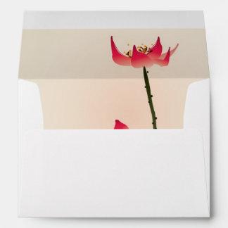 Oriental style painting, tall Lotus Envelope