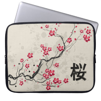 Oriental Style Sakura Cherry Blossom Art Computer Sleeve