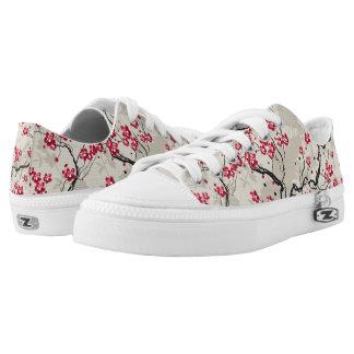 Oriental Style Sakura Cherry Blossom Art Low-Top Sneakers