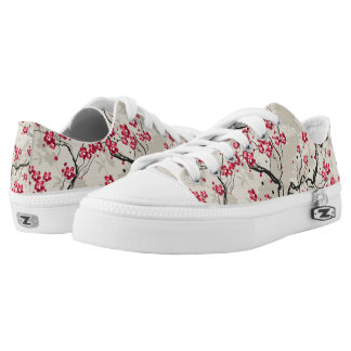 Oriental Style Sakura Cherry Blossom Art Printed Shoes