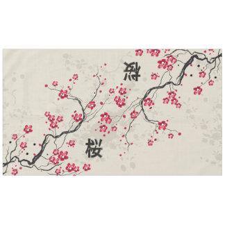 Lovely Oriental Style Sakura Cherry Blossom Art Tablecloth