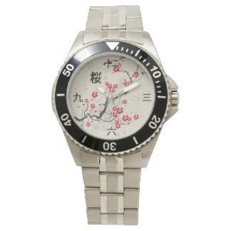 Oriental Style Sakura Cherry Blossom Art Watches