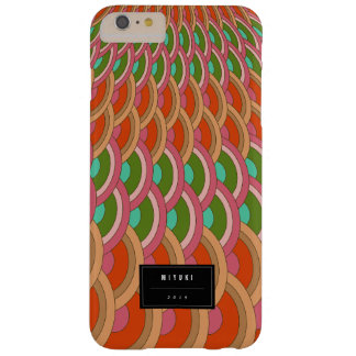 Oriental Stylish Vintage Red Scallop Pattern Fan Barely There iPhone 6 Plus Case
