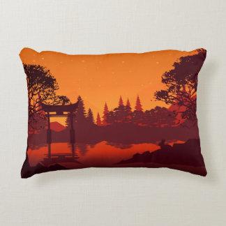 Oriental Sunset Accent Pillow