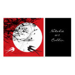 Oriental Swallows in Moonlight Chinese Wedding Double-Sided Standard Business Cards (Pack Of 100)