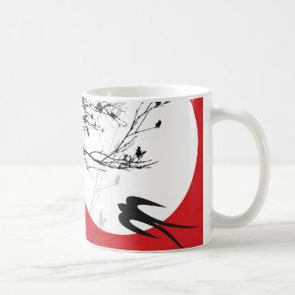 Oriental Swallows in Moonlight Mug