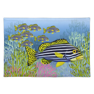 Oriental Sweetlips Reef Fish American MoJo Placemat