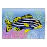 Oriental Sweetlips Reef Fish Card