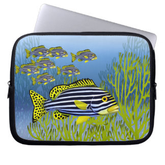 Oriental Sweetlips Reef Fish Electronics Bag