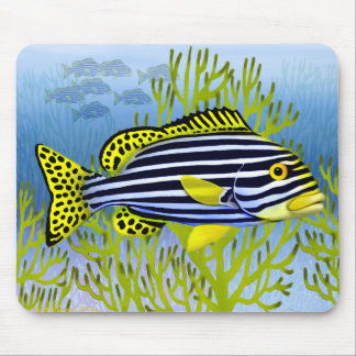 Oriental Sweetlips Reef Fish Mousepad