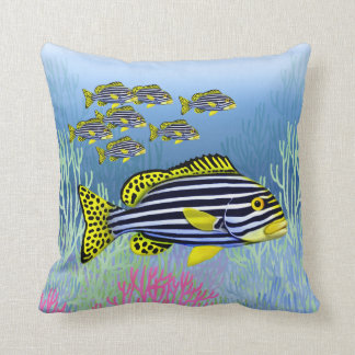 Oriental Sweetlips Reef Fish Pillow