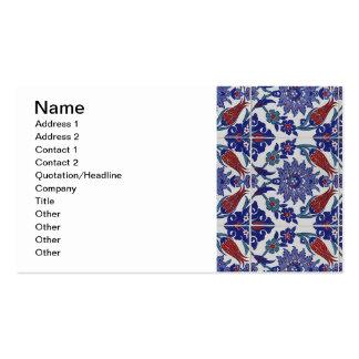 oriental-teja-modelo tarjetas de visita