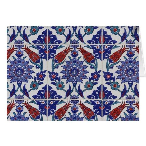 oriental-tile-pattern greeting cards