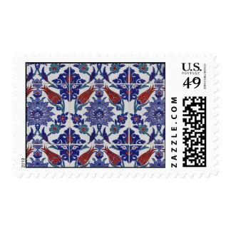 oriental-tile-pattern postage stamp