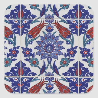 oriental-tile-pattern square sticker