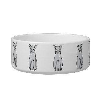 Oriental Tortie Cat Cartoon Bowl