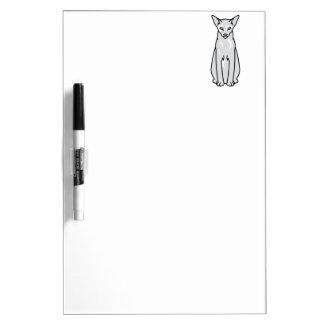 Oriental Tortie Cat Cartoon Dry-Erase Board