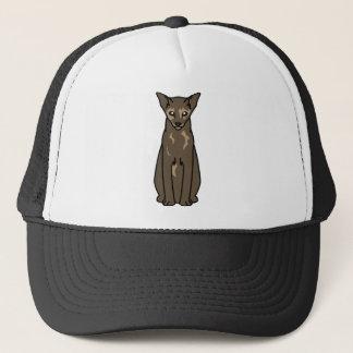 Oriental Tortie Cat Cartoon Trucker Hat