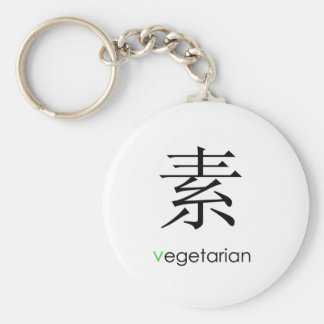 Oriental vegetariano llavero redondo tipo pin