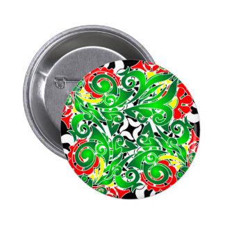 oriental vivid pattern buttons