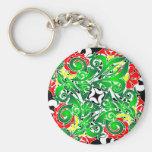 oriental vivid pattern key chain