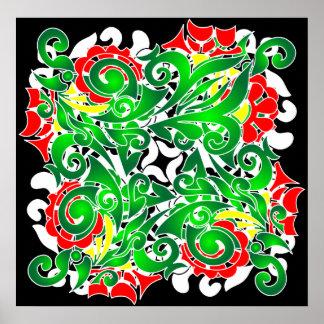 oriental vivid pattern poster