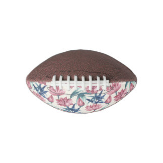Oriental watercolor lotus calligraphy painting football