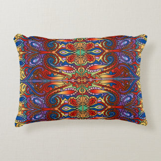 Oriental Watercolor Pattern I + your ideas Accent Pillow