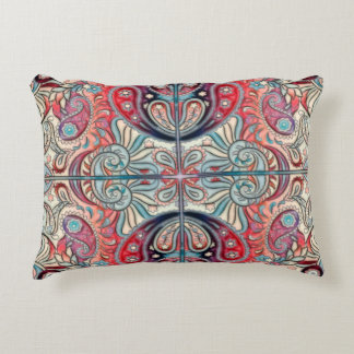 Oriental Watercolor Pattern II + your ideas Accent Pillow