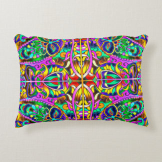 Oriental Watercolor Pattern III + your ideas Accent Pillow