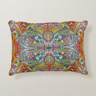 Oriental Watercolor Pattern IV + your ideas Accent Pillow