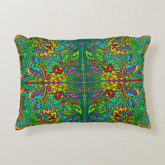 Oriental Watercolor Pattern V + your ideas Accent Pillow