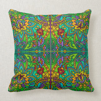 Oriental Watercolor Pattern V + your ideas Throw Pillow