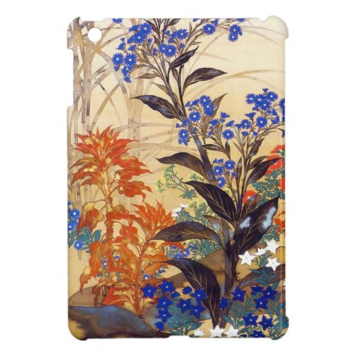 Oriental watercolour vibrant vintage flowers art case for the iPad mini