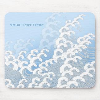 Oriental Wave Mousepad_Blue Mouse Pad