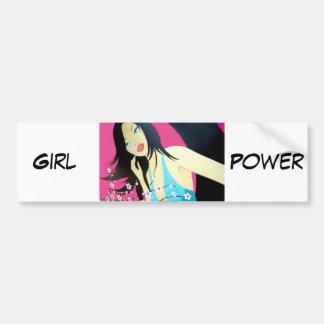 Oriental Woman Pop Art Bumper Sticker