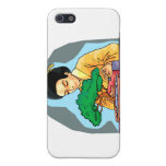 Oriental Woman Tending Bonsai Cover For iPhone 5