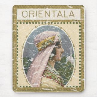 Orientala - distressed mouse pad