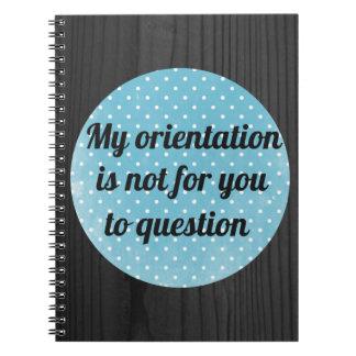 Orientation Affirmation Notebook