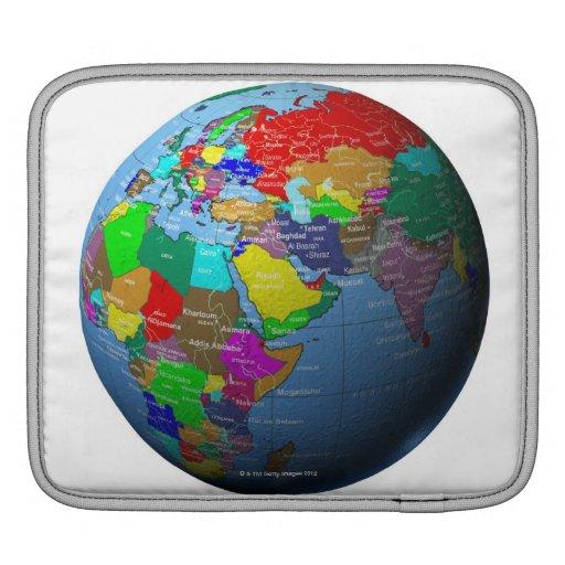 Oriente Medio en el globo Funda Para iPads